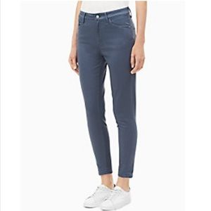Calvin Klein hi-rise ankle-length skinny jeans